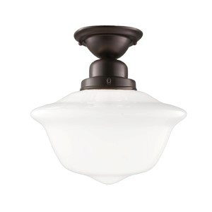 Edison Old Bronze Semi Flush Ceiling Light