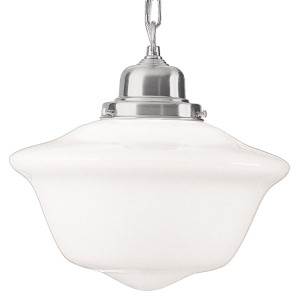 Edison Satin Nickel 15-Inch Pendant