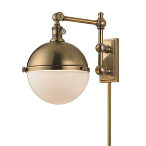 Stanley Aged Brass Thirteen-Inch Wall Sconce