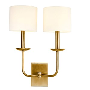 Kings Point Aged Brass Two-Light Wall Sconce