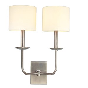 Kings Point Antique Nickel Two-Light Wall Sconce