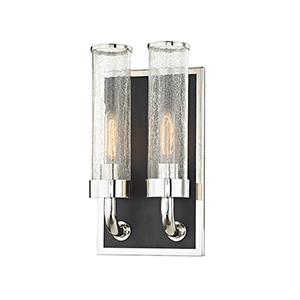 Soriano Polished Nickel 2-Light 8.75-Inch Wall Sconce