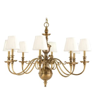 Charleston Aged Brass Eight-Light Chandelier