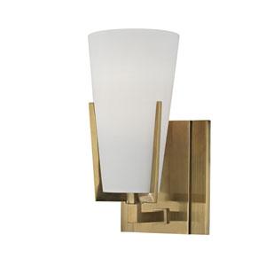Upton Aged Brass One-Light Vanity Fixture