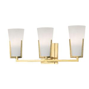 Upton Aged Brass Three-Light Vanity Fixture