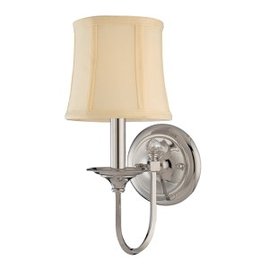 Rockville Polished Nickel One-Light Wall Sconce