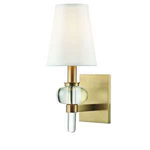 Luna Aged Brass One-Light Wall Sconce