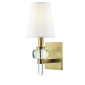 Luna Aged Brass One-Light Wall Sconce