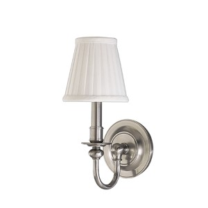 Beekman Satin Nickel One-Light Wall Sconce