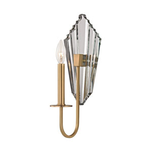 Pierre Aged Brass 6-Inch One-Light Wall Sconce