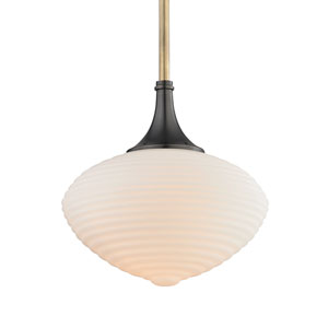 Knox Aged Old Bronze 12-Inch One-Light Pendant