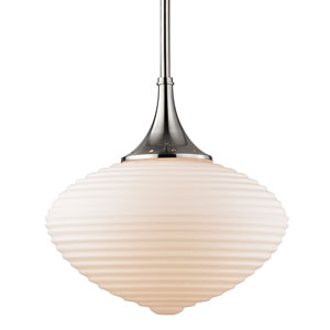 Knox Satin Nickel 16-Inch One-Light Pendant