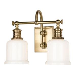 Keswick Aged Brass Two-Light Wall Sconce