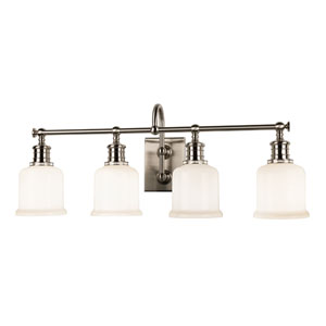 Keswick Satin Nickel Four-Light Bath Fixture