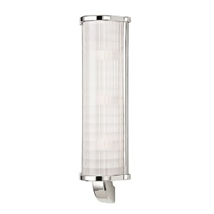 Arcadia Polished Nickel Three-Light Wall Sconce with Frosted Etched Glass