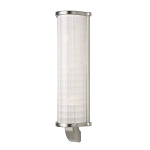 Arcadia Satin Nickel Three-Light Wall Sconce with Frosted Etched Glass