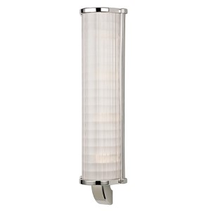 Arcadia Polished Nickel Four-Light Wall Sconce with Frosted Etched Glass