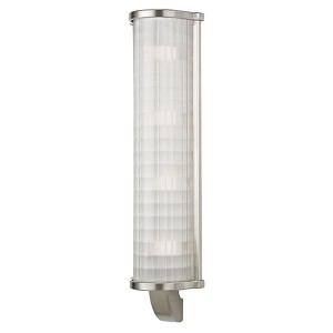 Arcadia Satin Nickel Four-Light Wall Sconce with Frosted Etched Glass