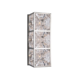 Fisher Polished Nickel Three-Light Wall Sconce