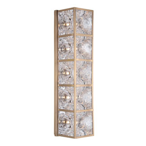 Fisher Aged Brass Five-Light Wall Sconce