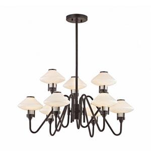 Knowles Old Bronze LED 30-Inch Nine-Light Chandelier