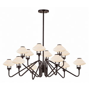 Knowles Old Bronze LED 43-Inch 12-Light Chandelier