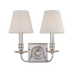 Sheldrake Polished Nickel Two-Light Sconce