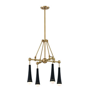 Tupelo Aged Brass LED Chandelier
