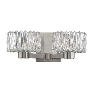 Anson Satin Nickel Two-Light Vanity Fixture