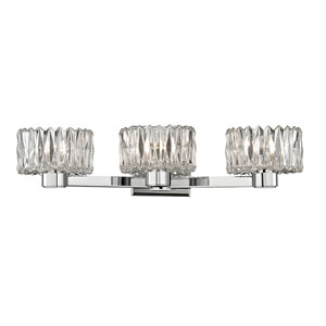 Anson Polished Chrome Three-Light Vanity Fixture