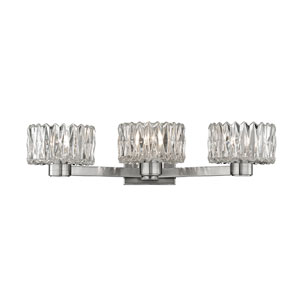 Anson Satin Nickel Three-Light Vanity Fixture