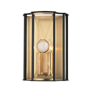 Cresson Aged Brass Two-Light Wall Sconce