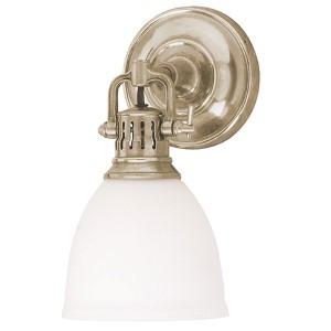 Pelham Satin Nickel One-Light Sconce