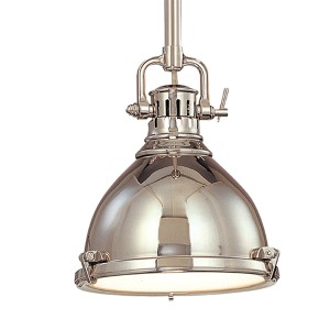 Pelham Polished Nickel 12-Inch Mini Pendant