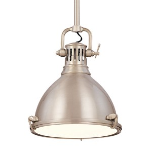 Pelham Satin Nickel 12-Inch Mini Pendant