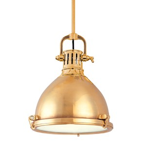 Pelham Aged Brass Dome Pendant