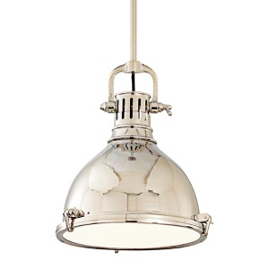 Pelham Polished Nickel Dome Pendant