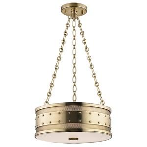 Gaines Aged Brass Three-Light Pendant