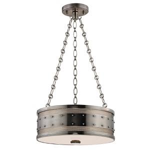 Gaines Historic Nickel Three-Light Pendant