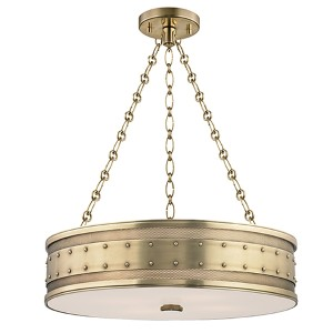 Gaines Aged Brass Four-Light Pendant
