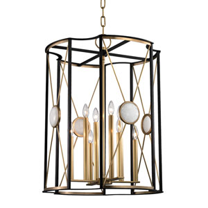 Cresson Aged Brass 23.5-Inch Eight-Light Pendant