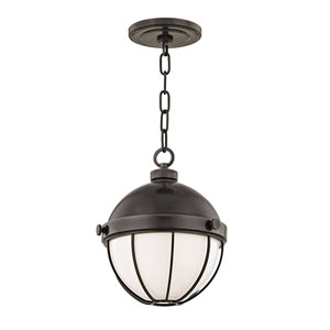 Sumner Old Bronze One-Light Nine-Inch Pendant