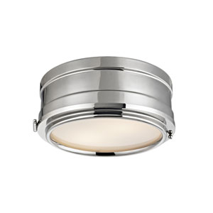 Rye Polished Nickel Two-Light Flush Mount