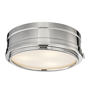 Rye Polished Nickel Three-Light Flush Mount