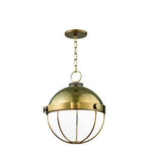 Sumner Aged Brass 14-Inch One-Light Pendant