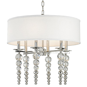 Persis Polished Nickel 6-Light 24-Inch Pendant