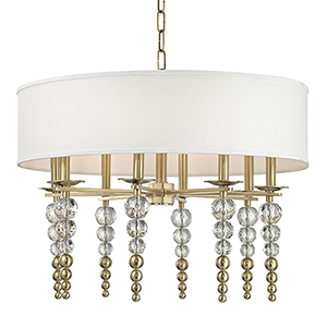 Persis Aged Brass 8-Light 30-Inch Pendant