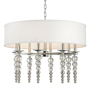 Persis Polished Nickel 8-Light 30-Inch Pendant