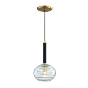 Breton Aged Brass LED Mini Pendant