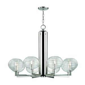 Breton Polished Nickel Eight-Light LED Chandelier